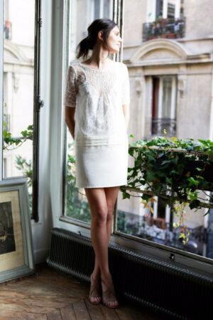 robe de mariage civil sophistiquée l'amusée