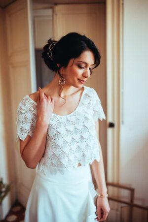 Robe de mariage Elsa Gary le temps des noces Perpignan