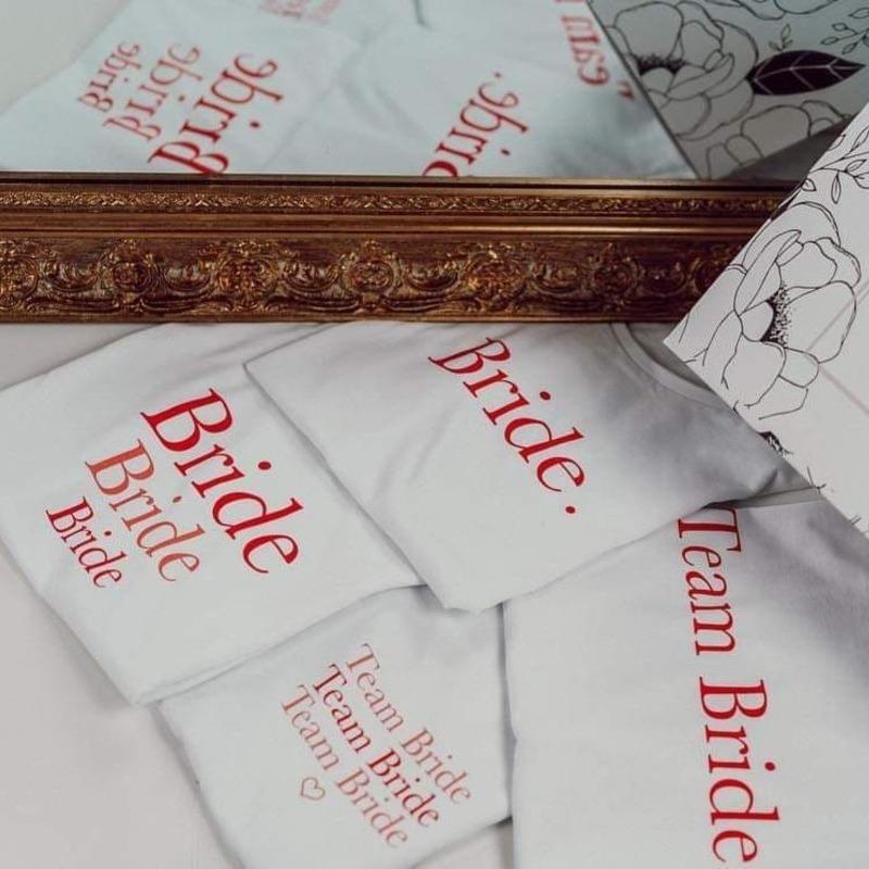 Les Tee shirts EVJF Bride et Team Bride