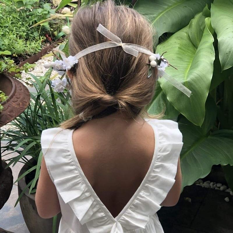 Robe Flora fille dos
